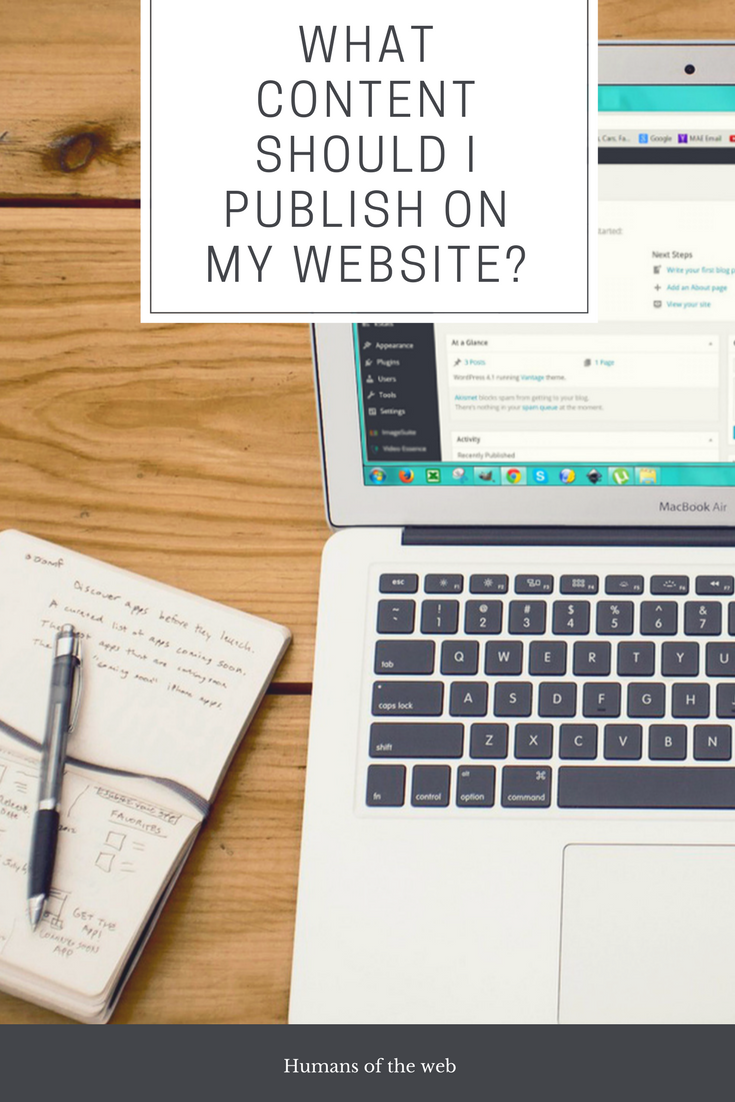 What Content To Publish on Your Webite - Blogpost
